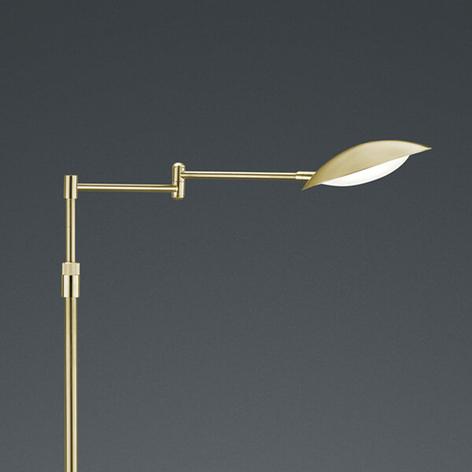 Lampada da terra LED Calcio regolabile, ottone