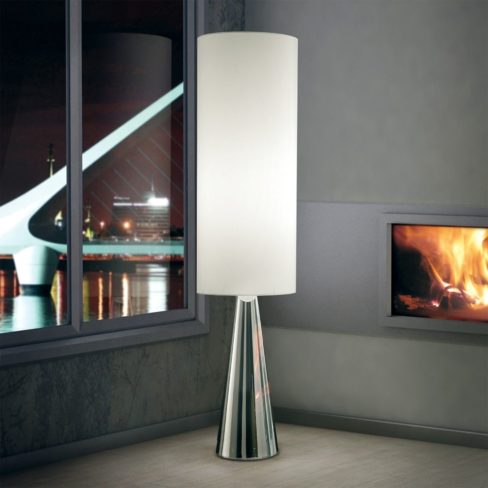 Lampadaire cylindrique Totem