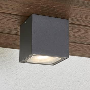 Plafón LED para exterior Tanea forma cúbica, IP54