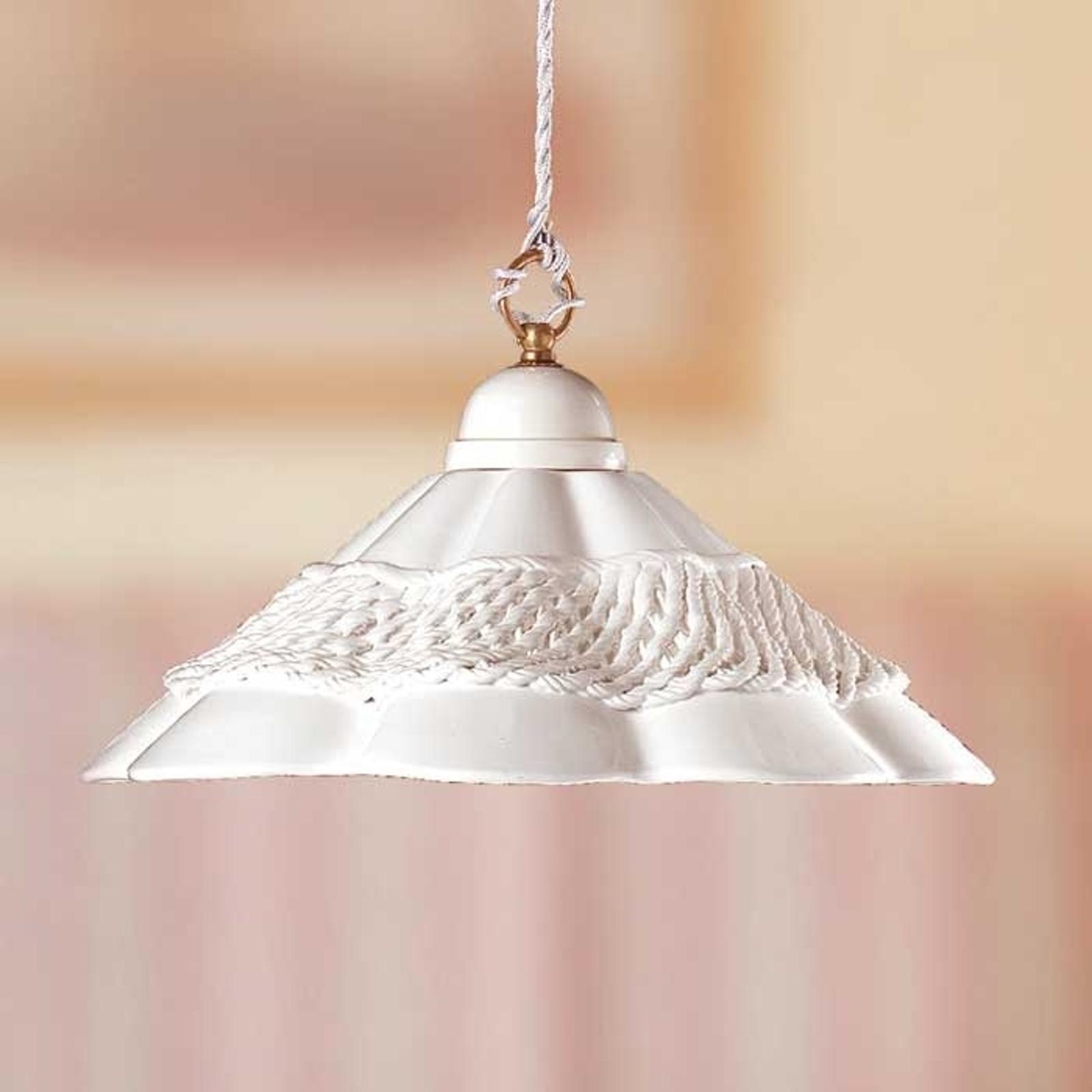 Fortryllende hængelampe GONNELLA med ornamentbånd