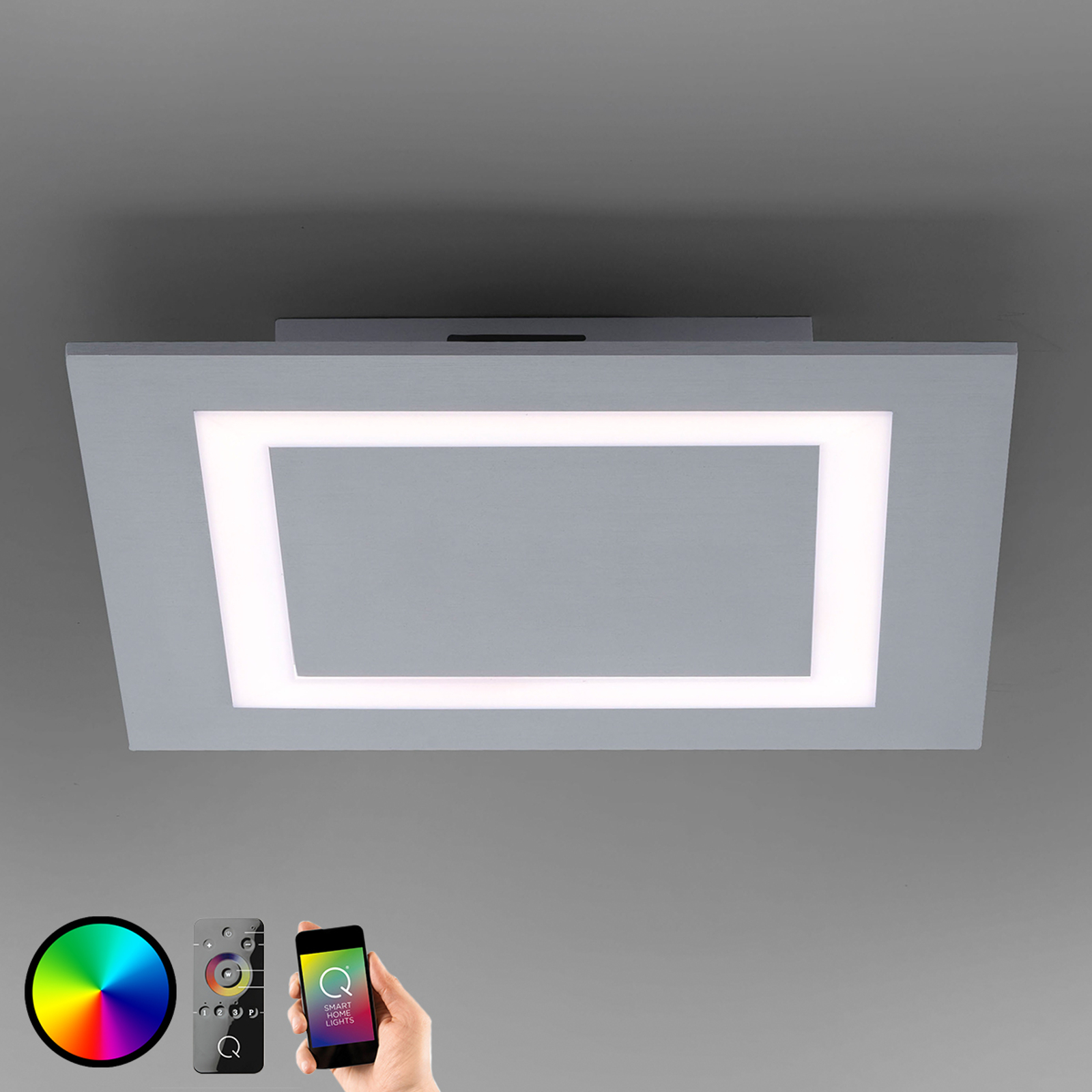 Plafonnier ZigBee LED Q-Miran - 30 x 30 cm