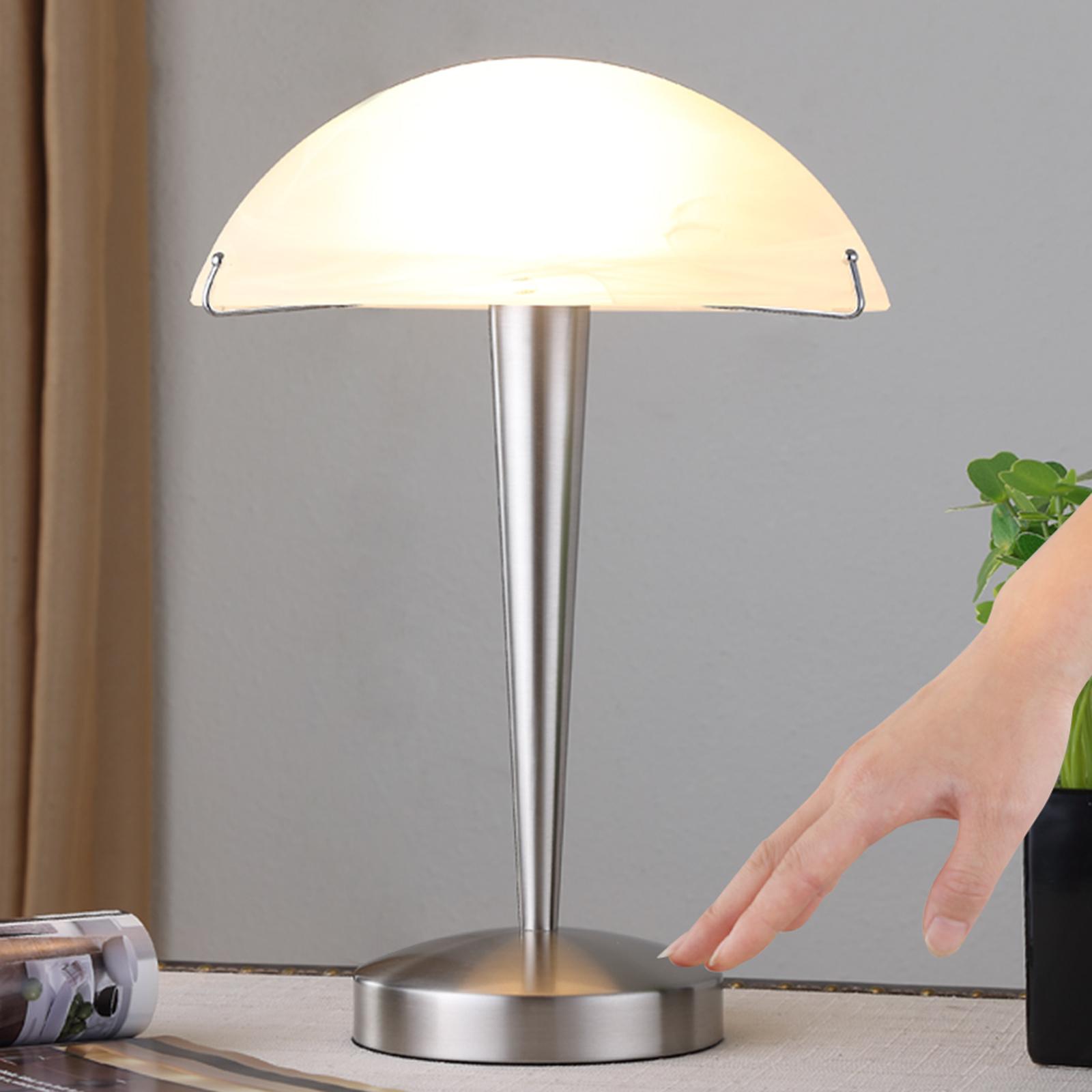 Tischlampe Viola mit Touchschalter, nickel matt