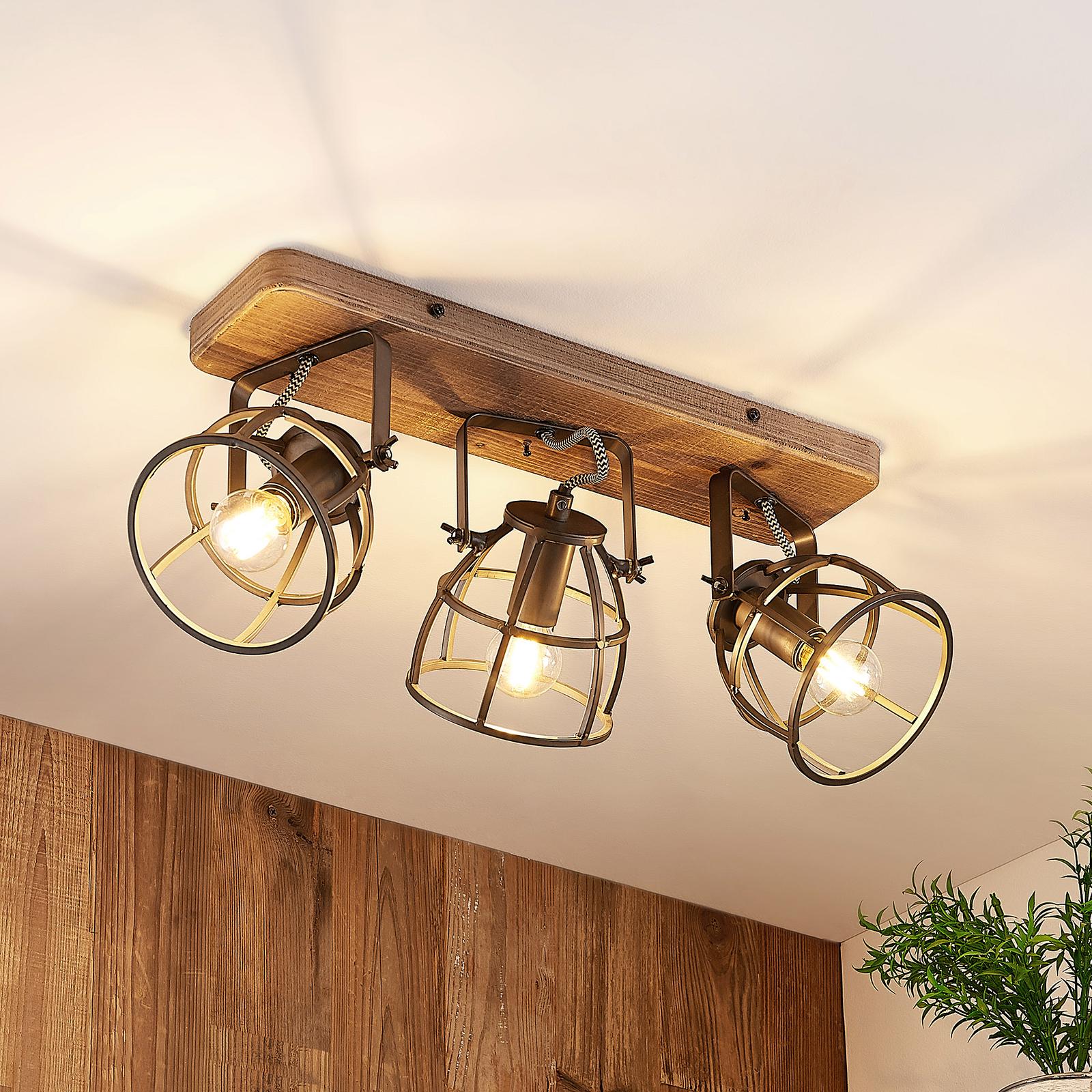 Lindby Rutger taklampe, 3 lyskilder
