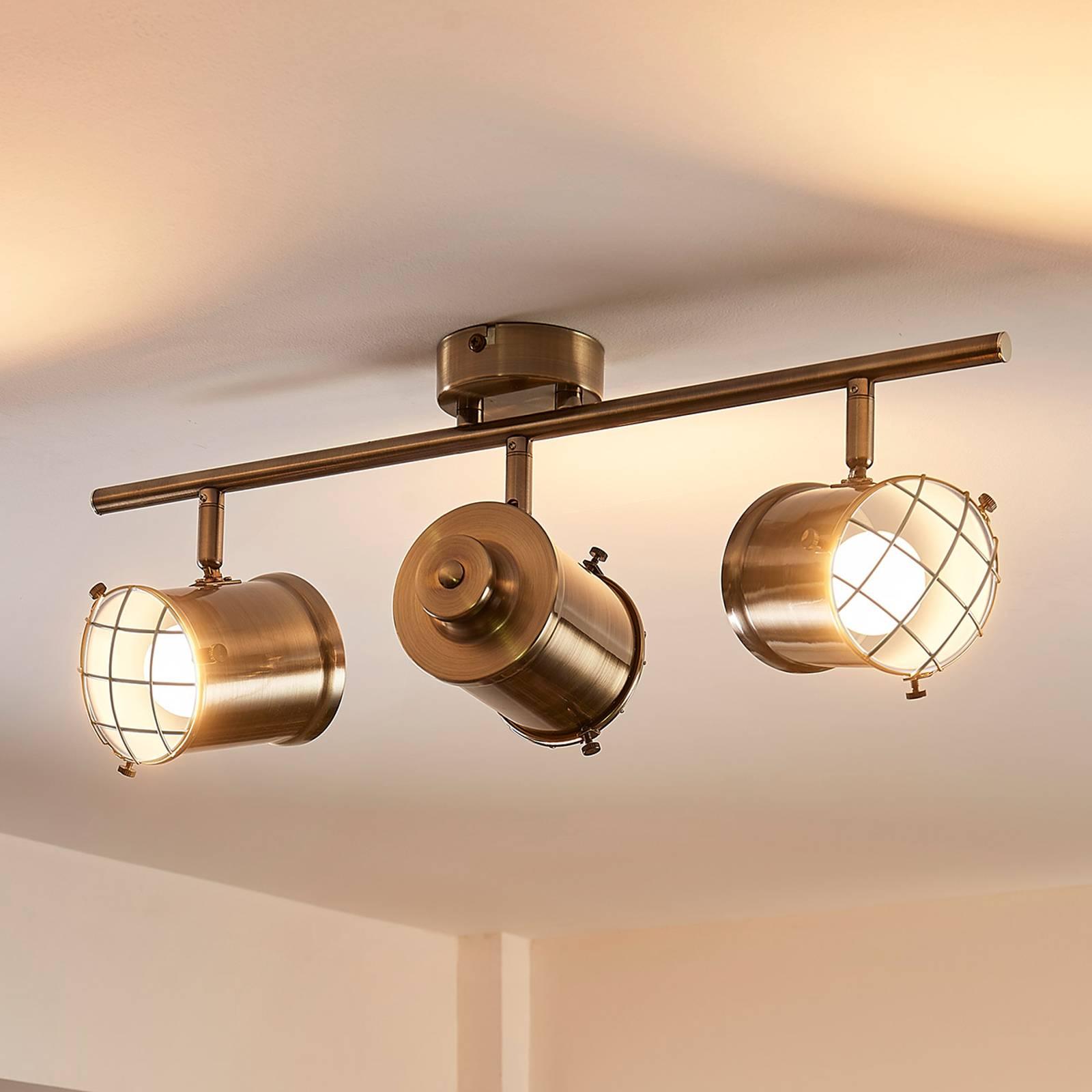 3-lichts Easydim plafondlamp Ebbi met led