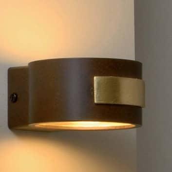 SMALL flad væglampe, rust/guld
