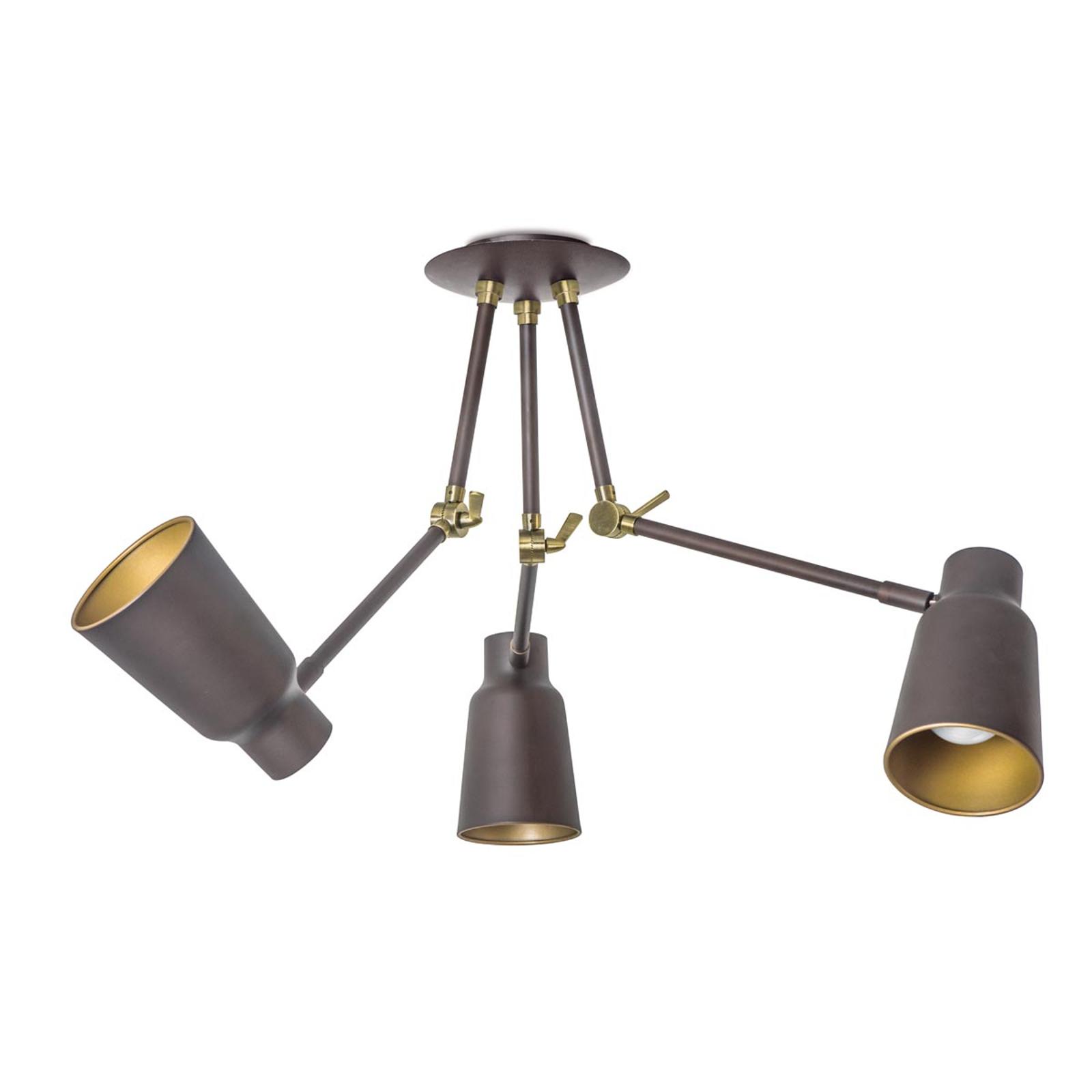 Trójramienna lampa sufitowa Funk