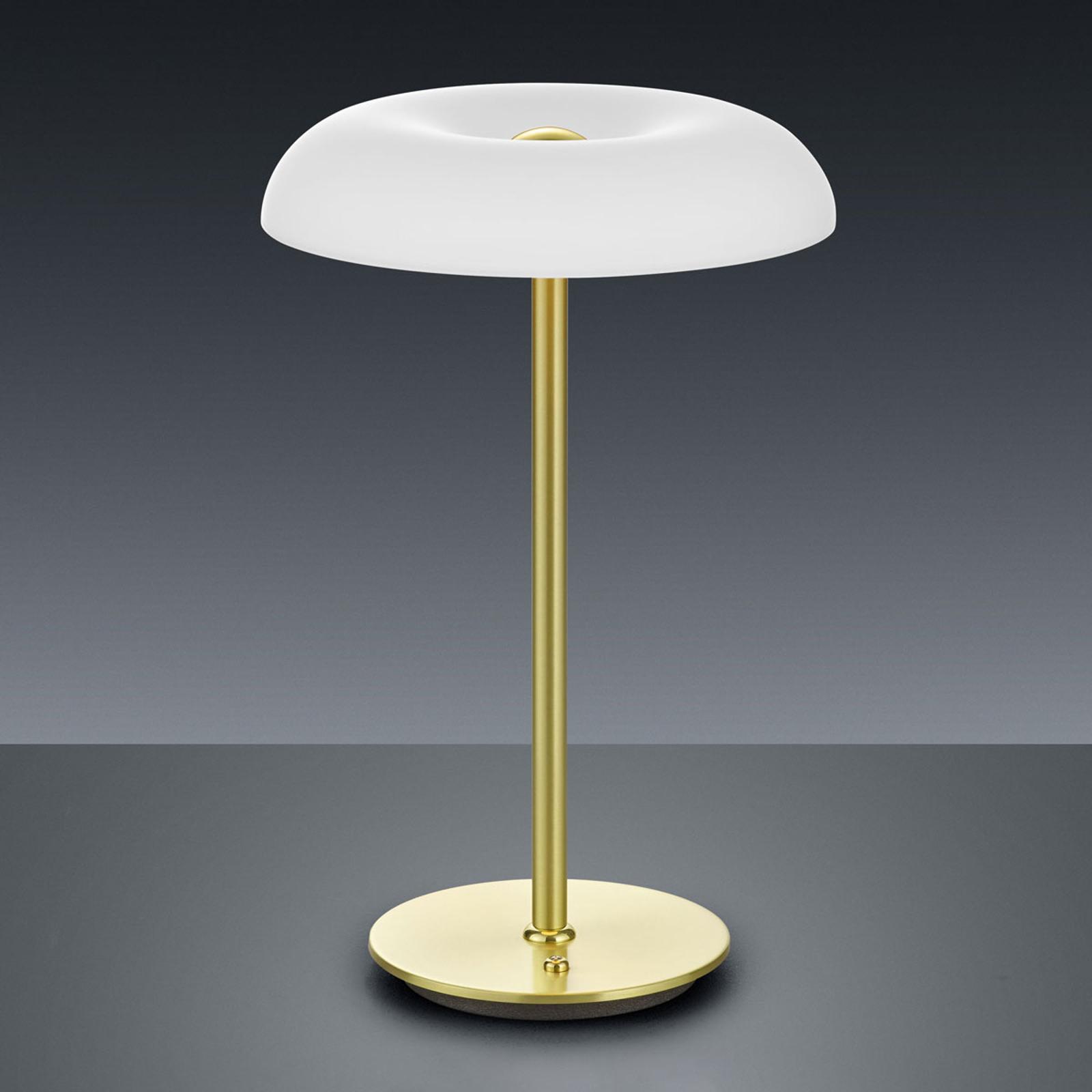 BANKAMP Vanity LED da tavolo dimmer, ottone