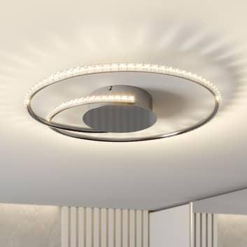 Lindby Joline LED-loftlampe, krystal, 45 cm