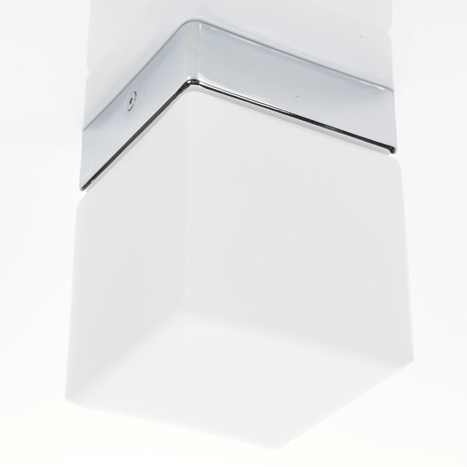 Sześcienna lampa sufitowa LED Keto, do łazienki