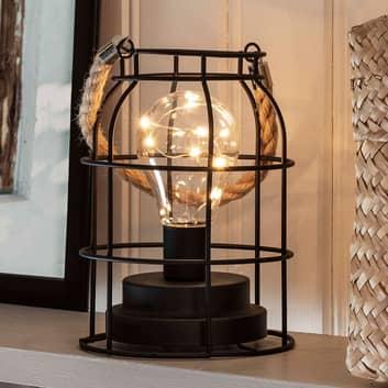 LED kovová lucerna, kulatá