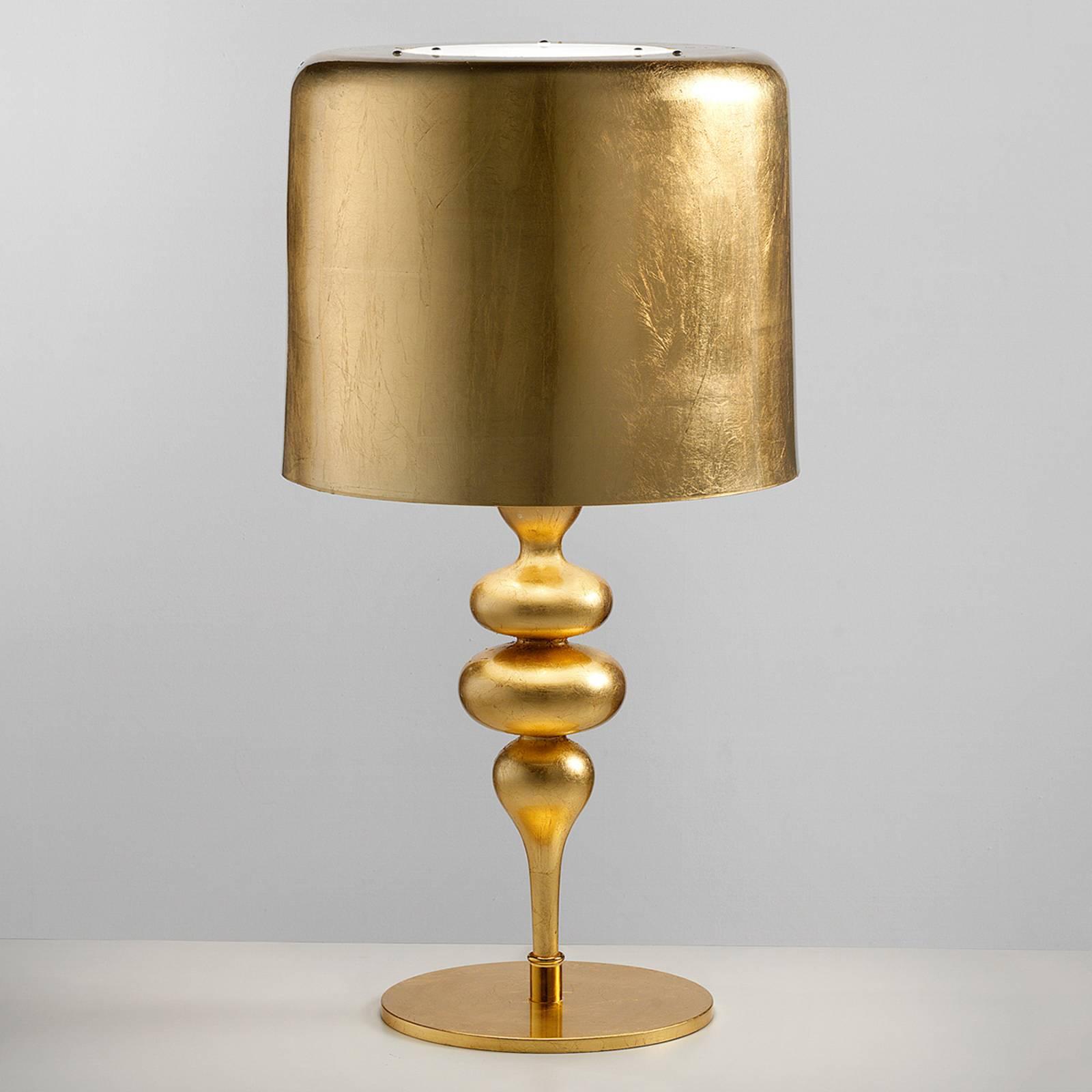 Tischleuchte Eva TL3+1G 75 cm, gold