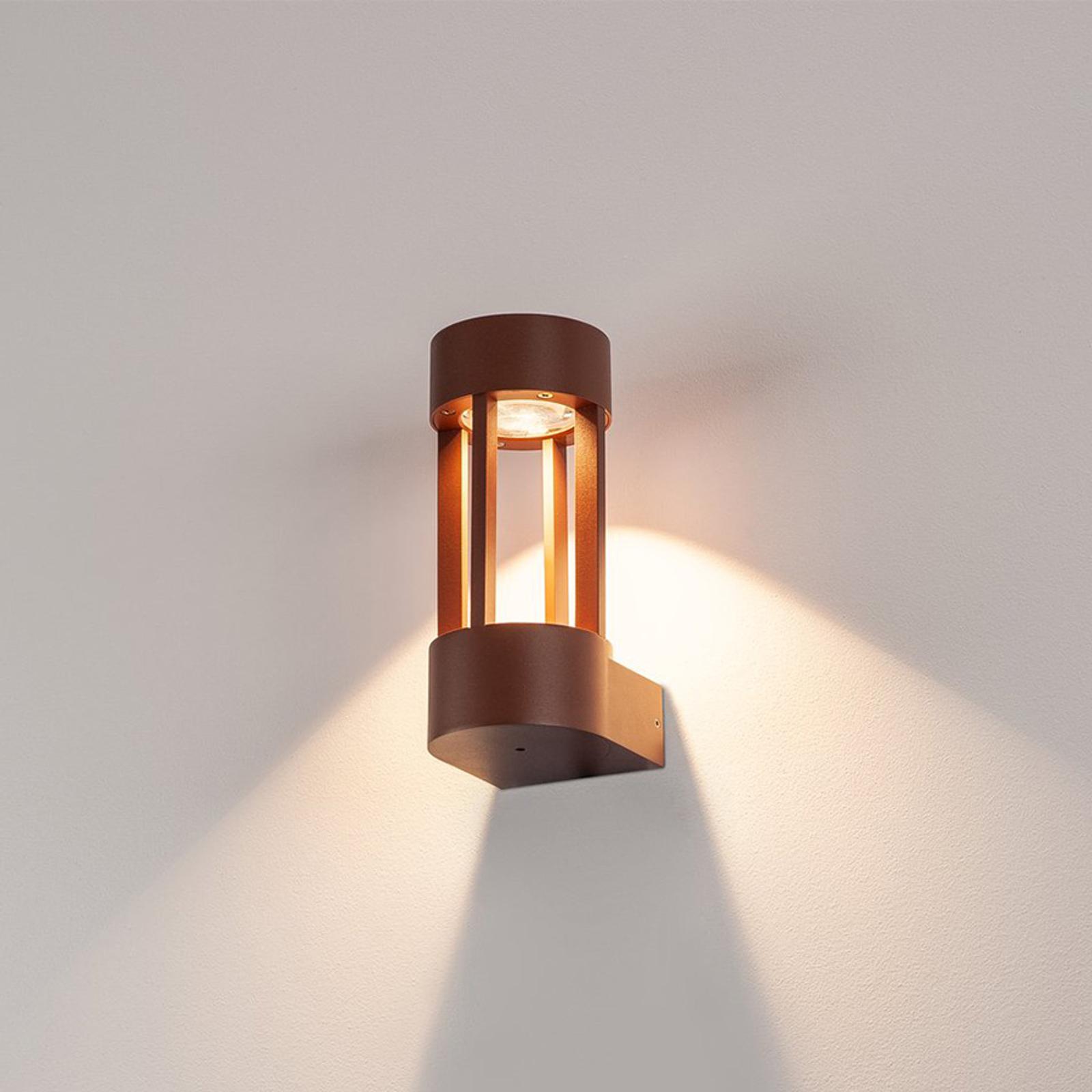 Lampada da parete LED Slot Wall ruggine