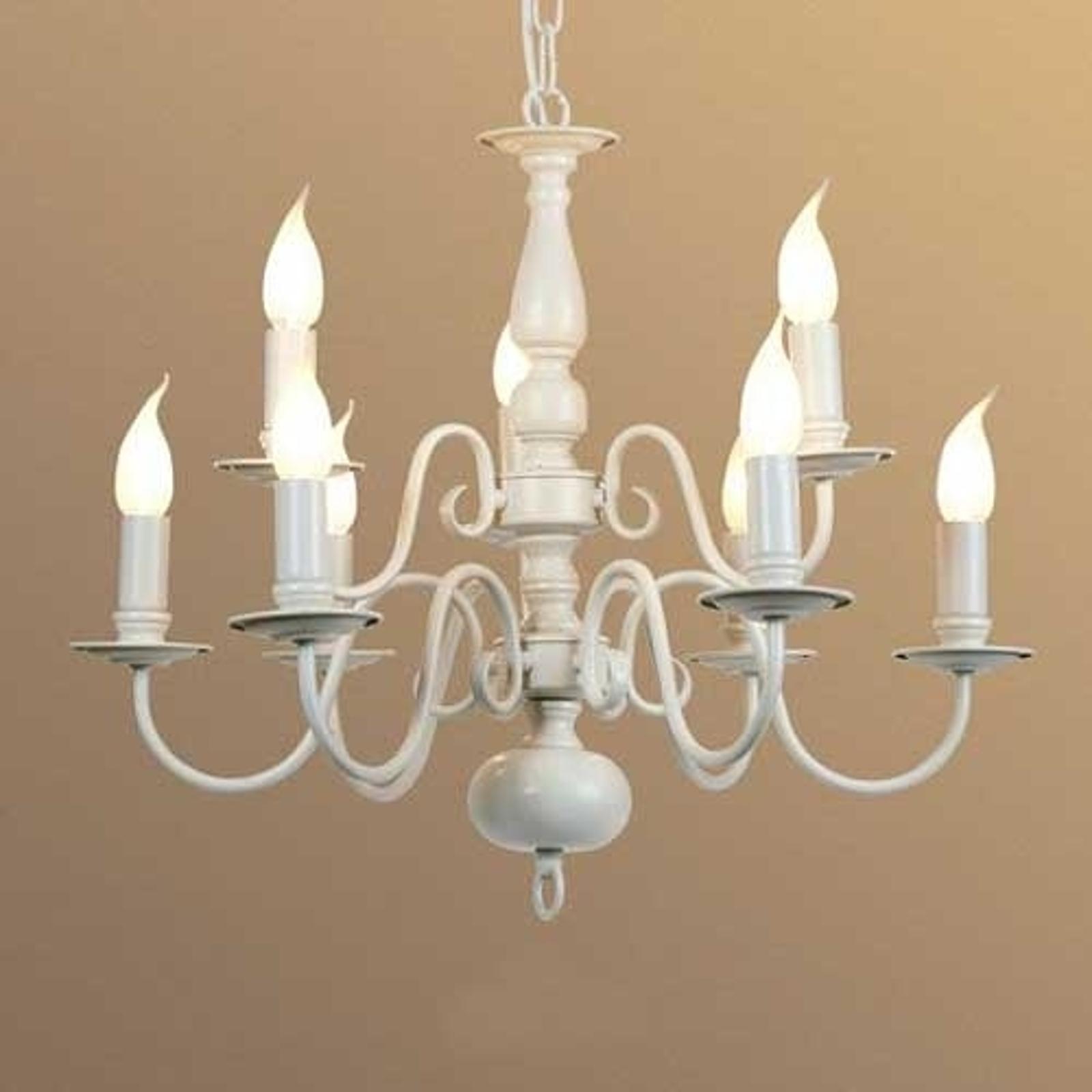 MAYRA - lámpara de araña 9 brazos, estilo rústico