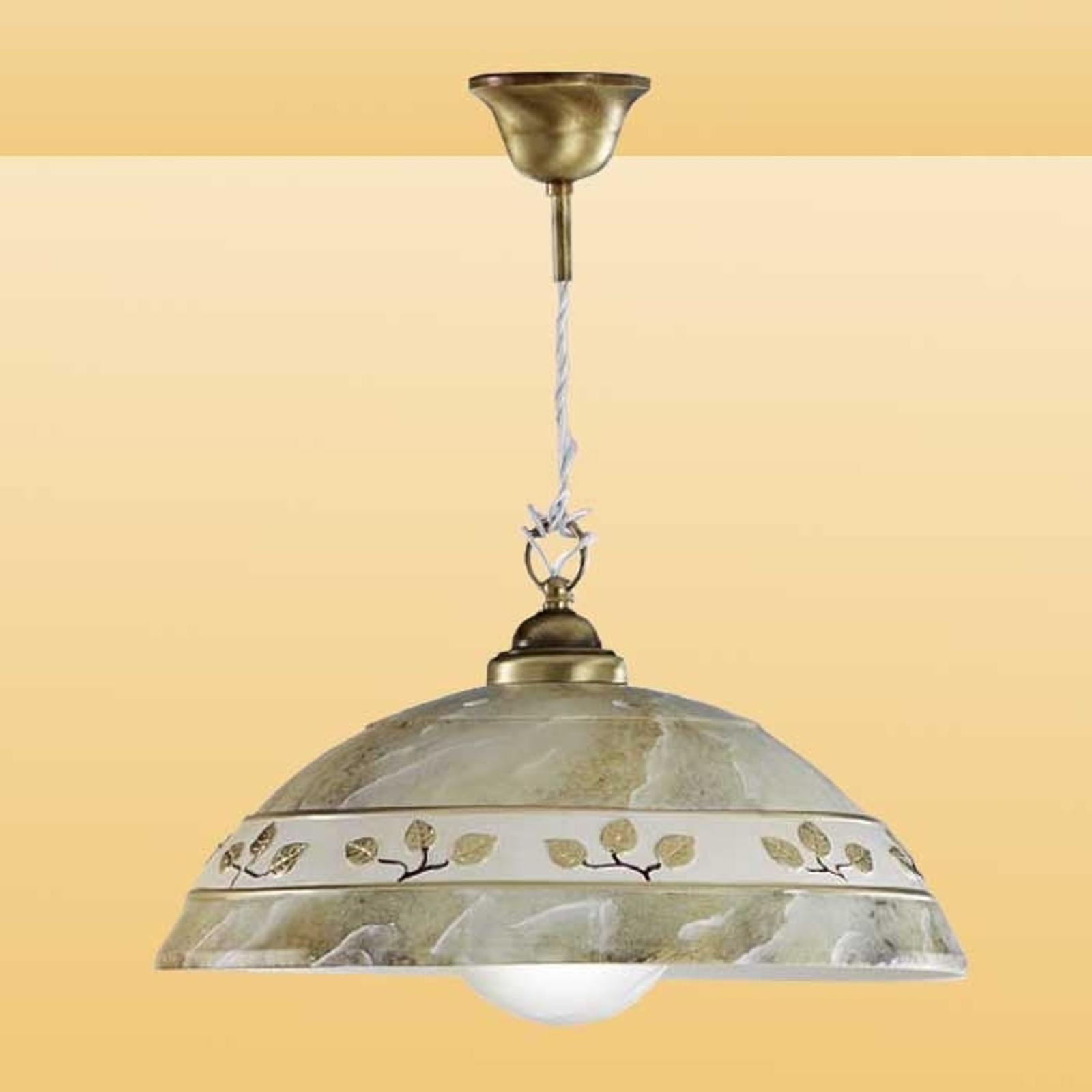 Lampa wisząca FOGLIE MARMO MARRON