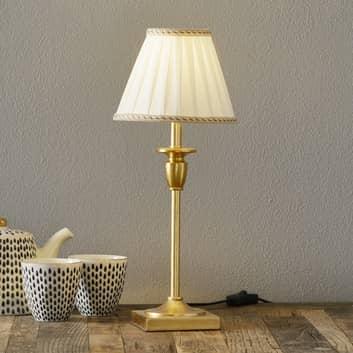 Stijlvolle tafellamp DONATA met plissé lampenkap