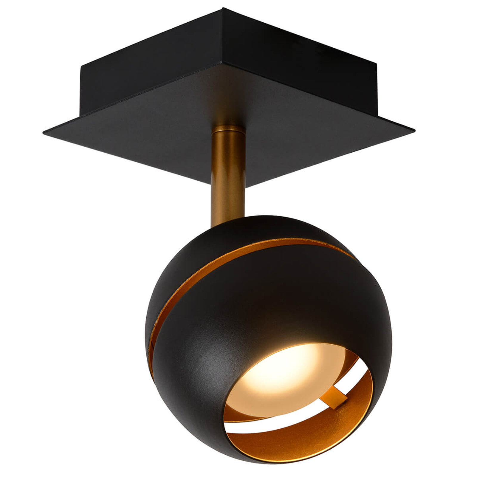 LED-Deckenstrahler Binari in Kugelform, schwarz