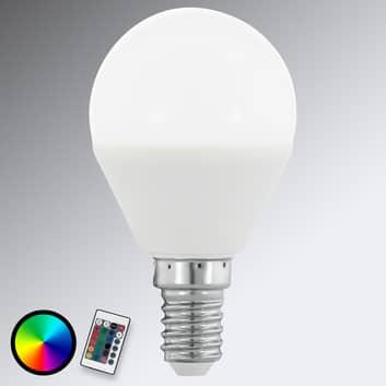E14 4W 830 LED žárovka ve tvaru kapky, RGB