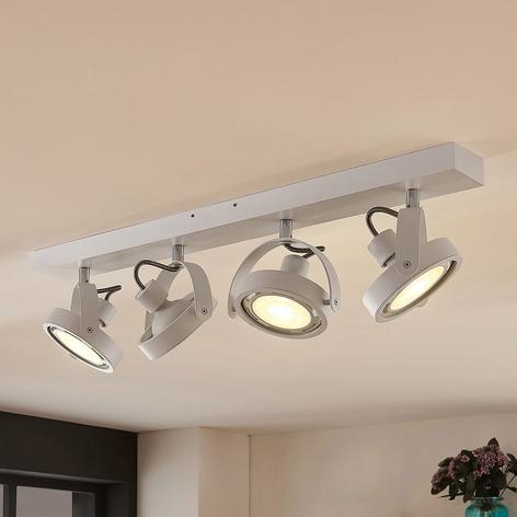 Spot LED Munin, dimmable, blanc, 4 lampes