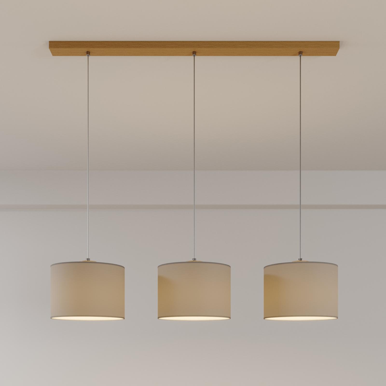 Corralee hængelampe, grå, 3 lyskilder