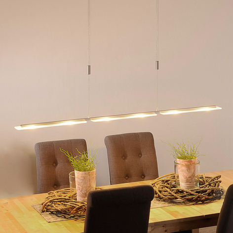 LED-Hängeleuchte Mala aus Alu und Glas