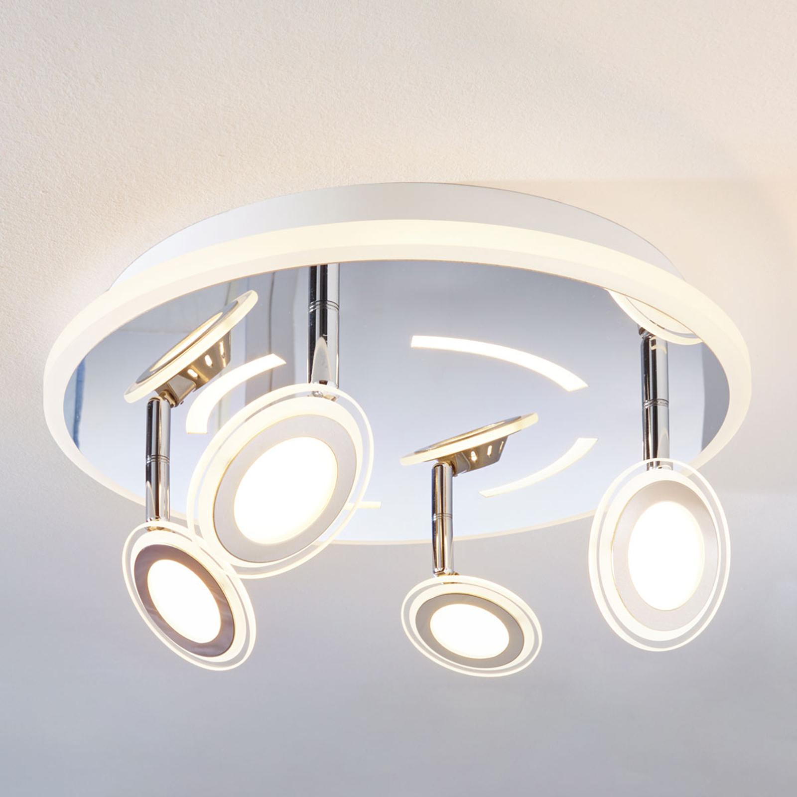 LED-Deckenleuchte Enissa, rund, 4-flammig