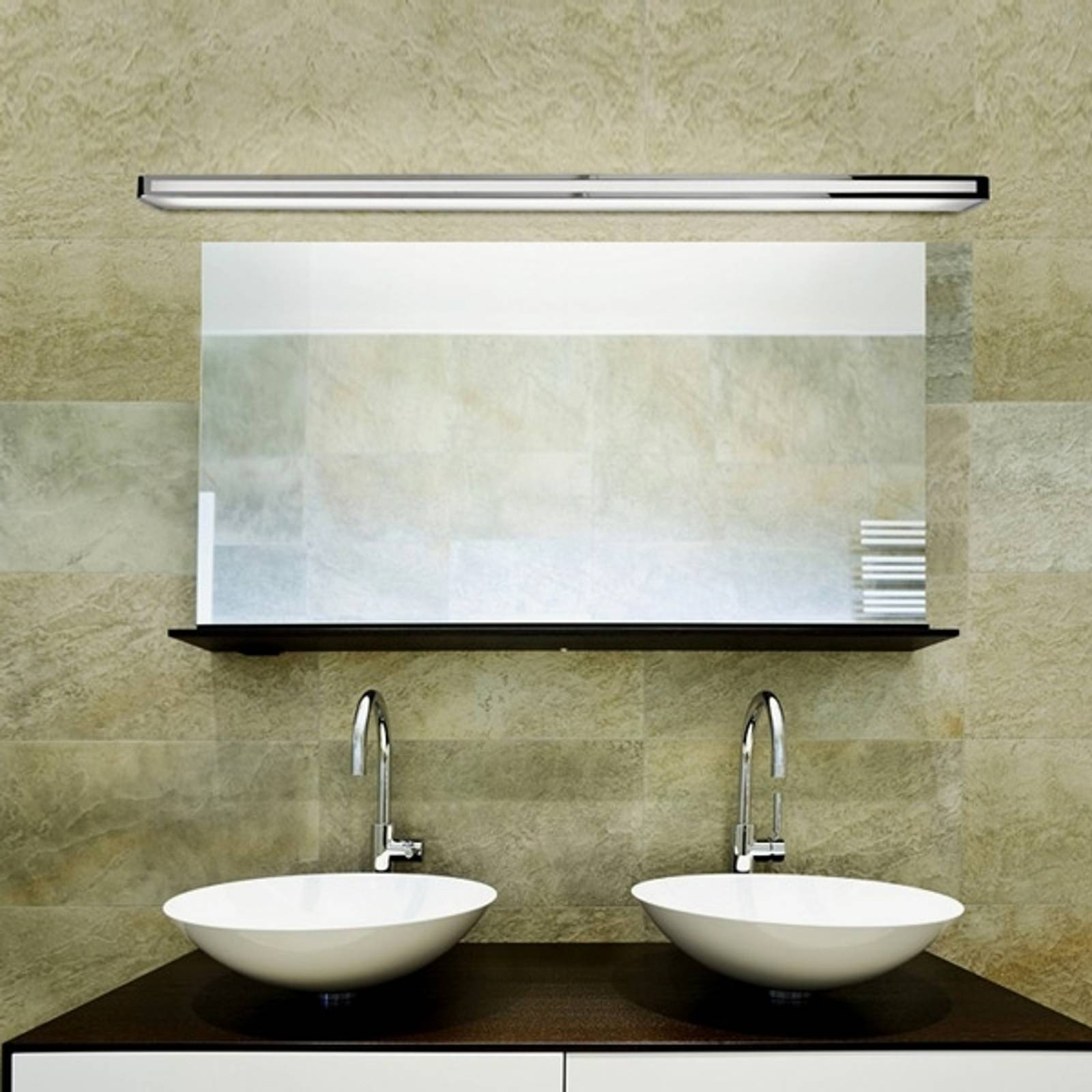 Arcos - veelzijdige wandlamp, chroom, 150 cm