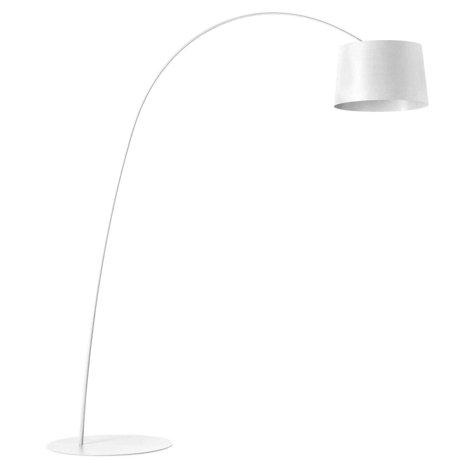 Foscarini Twiggy lampada LED ad arco, bianco