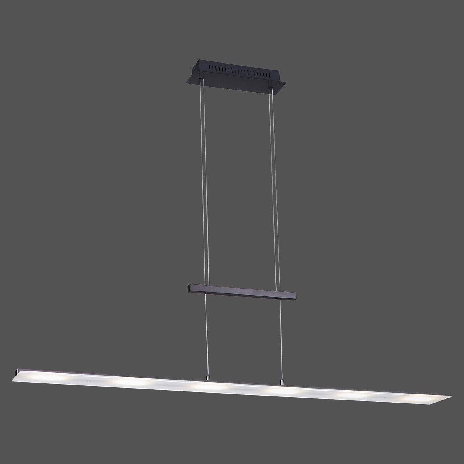 Lampa wisząca LED Nele, czujnik, antracyt