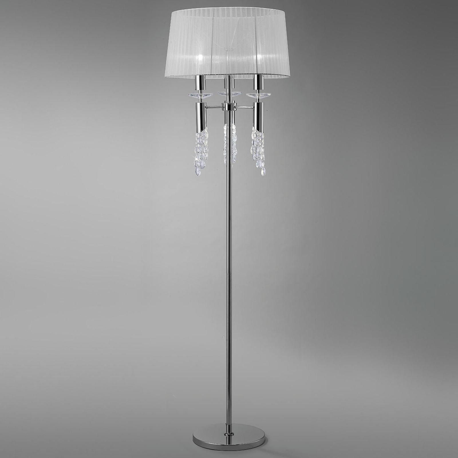 Vloerlamp Lilja met zijden kap
