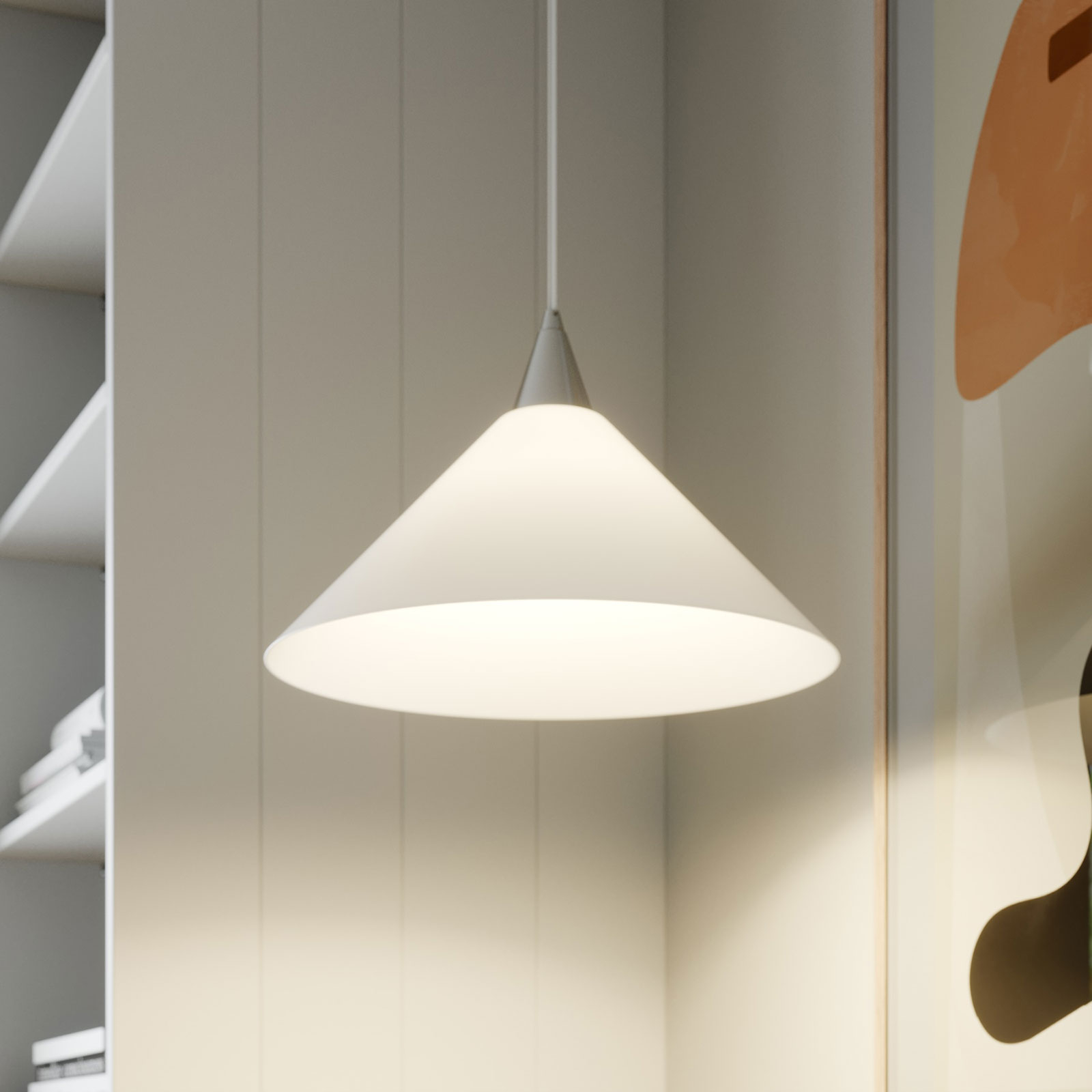 Discreta lámpara colgante de vidrio Petra