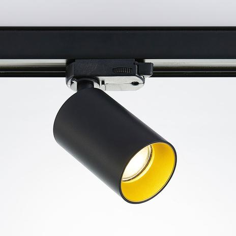 3-fazowy reflektor Brinja, system szynowy, czarny