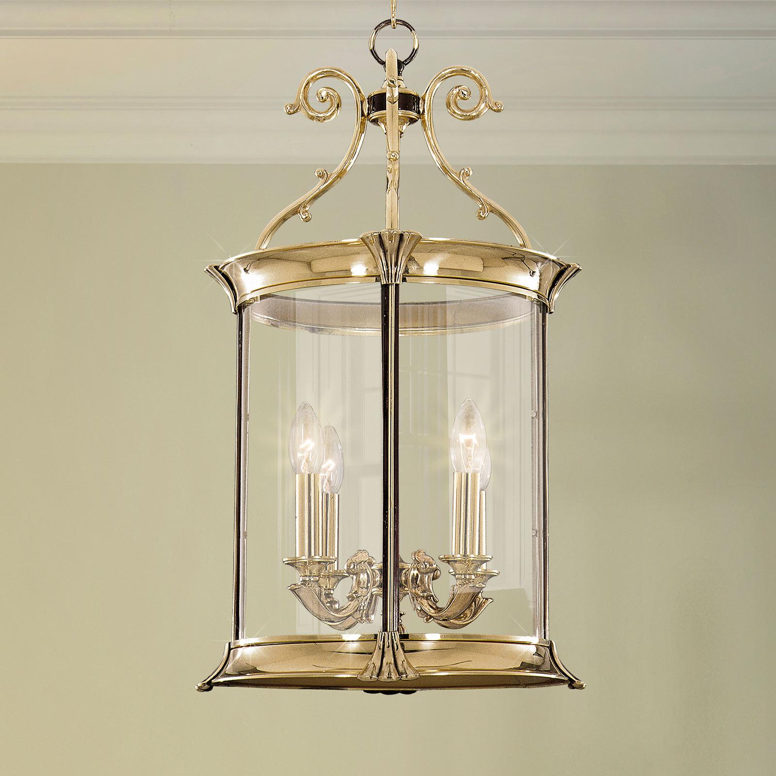 Pavel hængelampe, 4 lyskilder, blankt guld