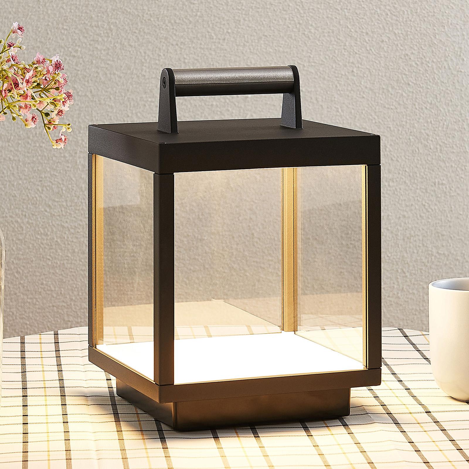 LED-Tischleuchte Cube für außen, aufladbar