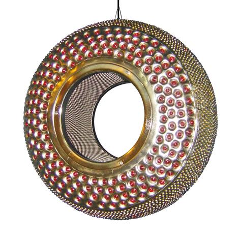 Atrakcyjna lampa wisząca Orient 42 cm, pomarańcz.