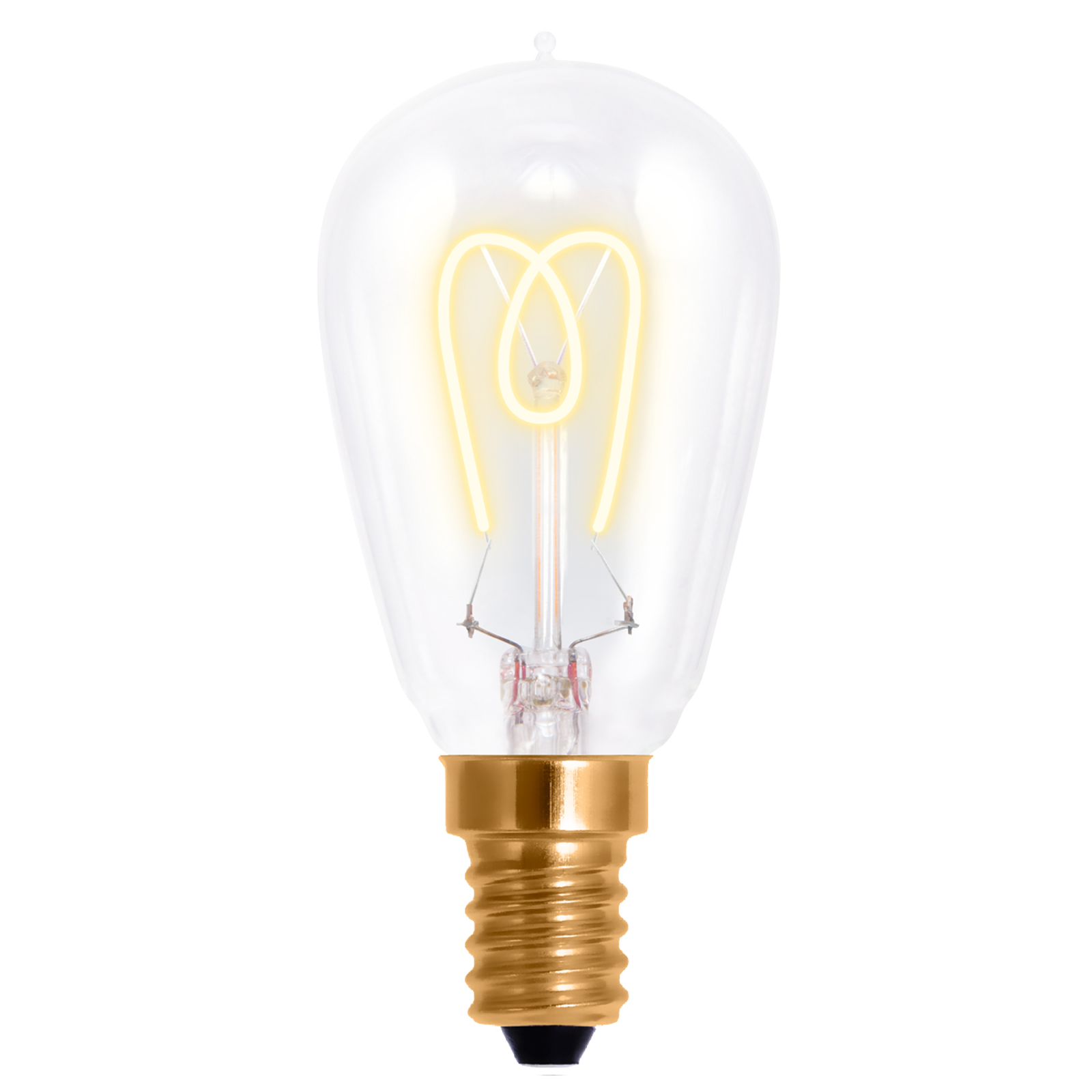 E14 2,7W 922 LED-Tropfenlampe Curved Line 360°