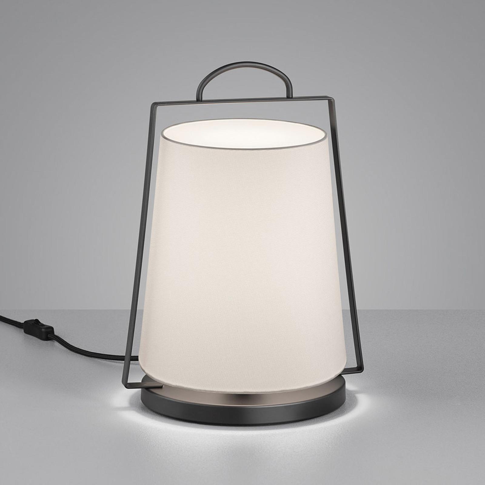 Helestra Uka tafellamp met stoffen kap wit