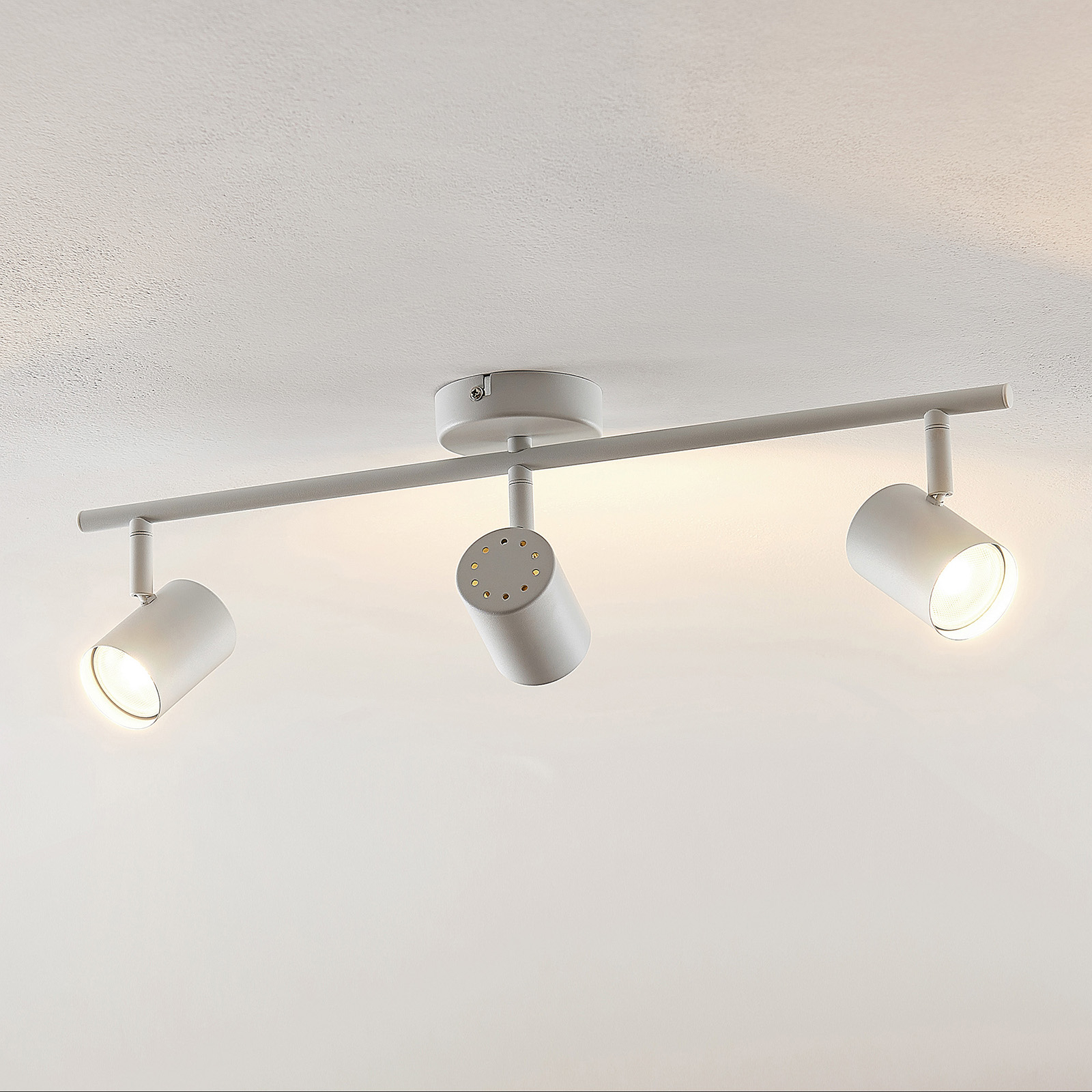 ELC Tomoki lampa sufitowa LED, biała, 3-punktowa