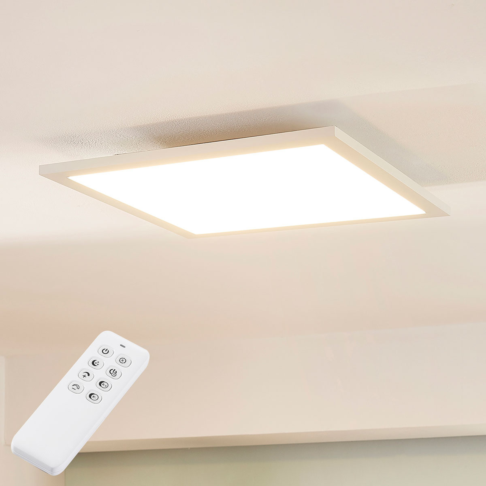 Arcchio Lysander LED-panel, CCT, 39 cm, hvit
