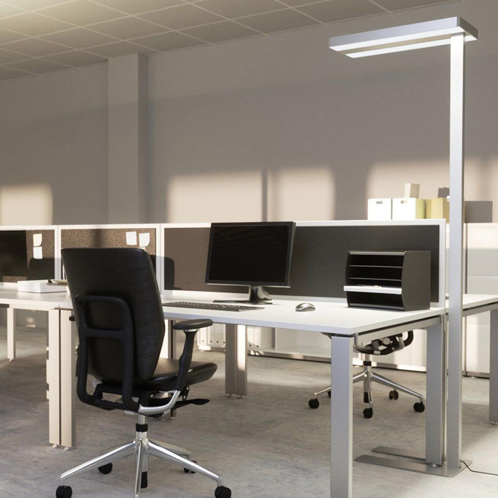 Logan - biurowa lampa stojąca LED ze ściemniaczem