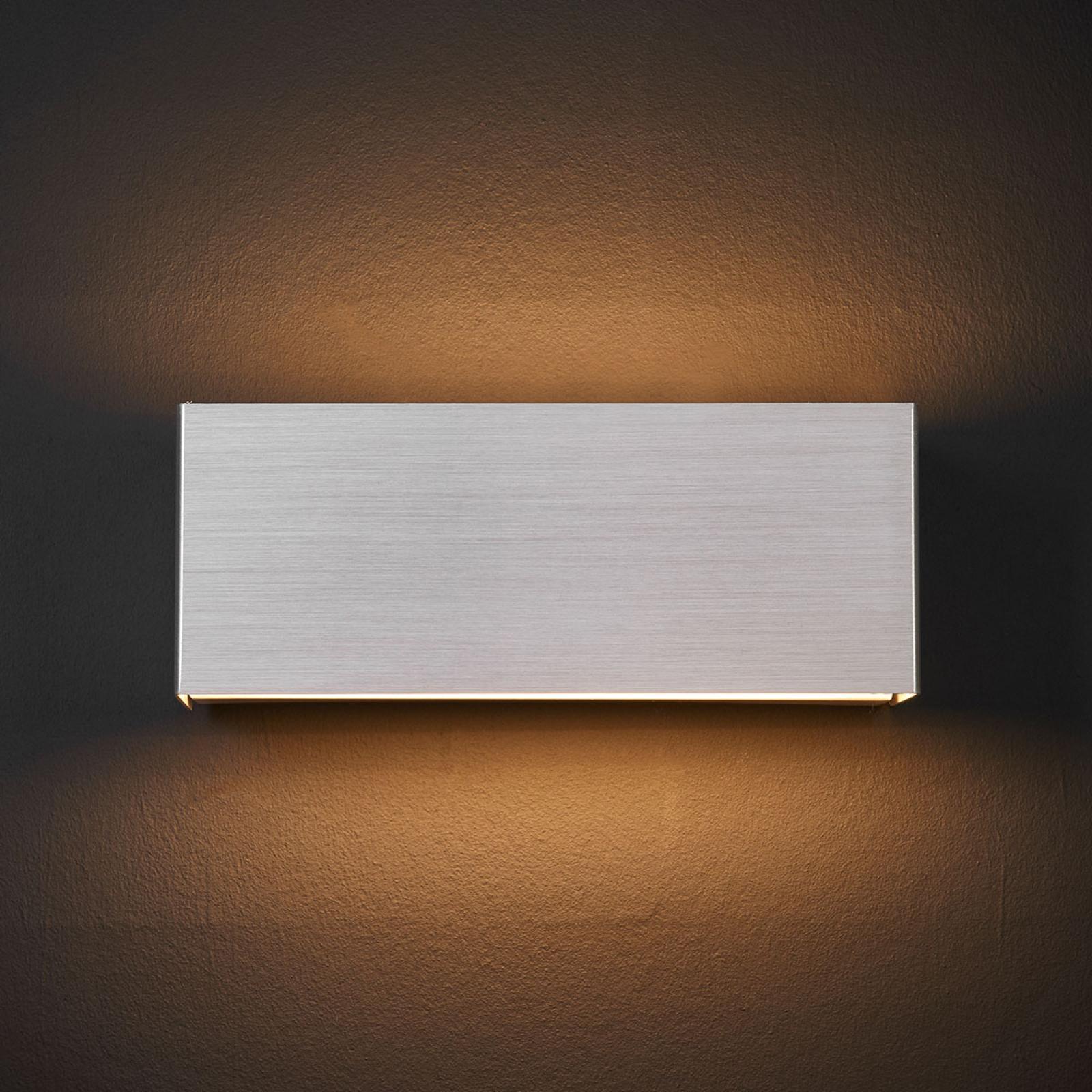 LED-vägglampa Kimberley, 23x9cm, aluminium