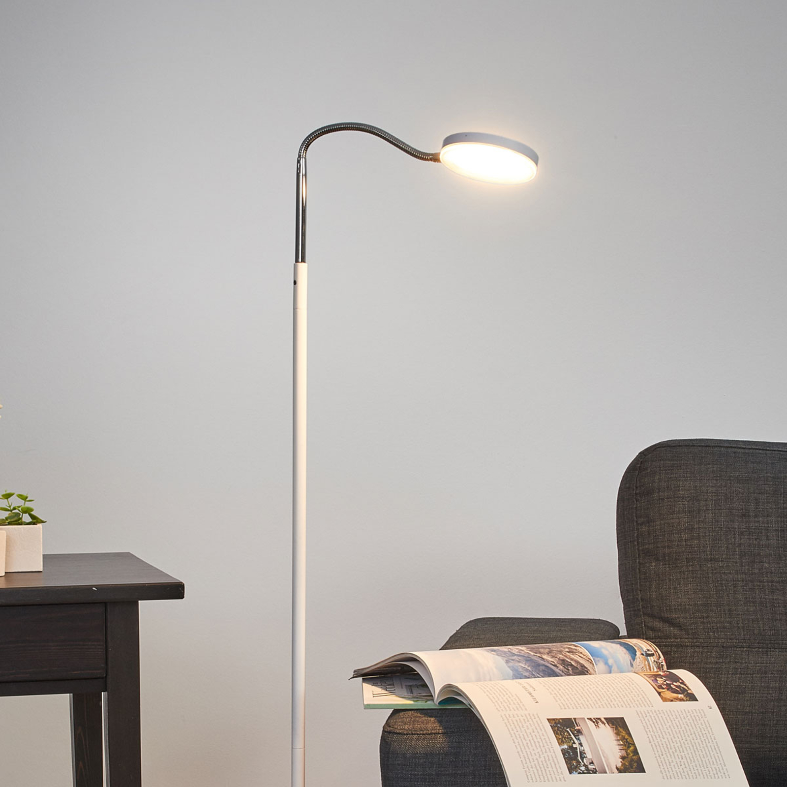 Milow Led Floor Lamp With Gooseneck Lights Co Uk