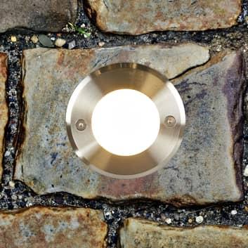 Jaloteräs - moderni LED-lattiauppovalaisin LED-18