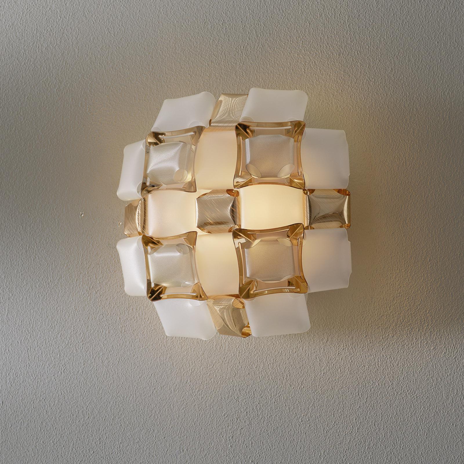 Slamp Mida lampa ścienna, 32x32 cm, złota/biała