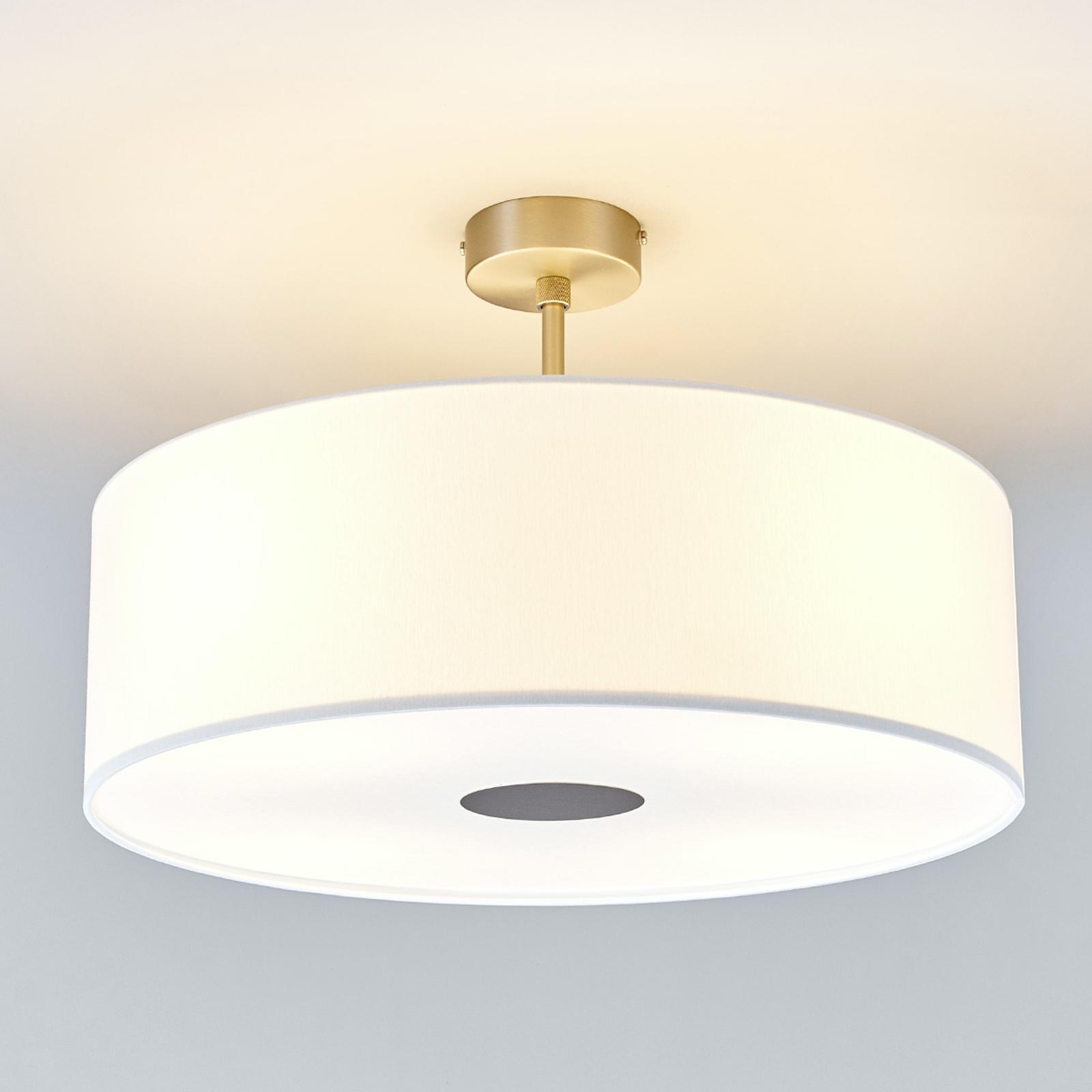 Taklampe med avstand Gala, 50 cm, chintz hvit