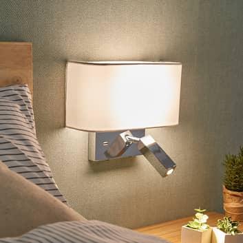 Applique a LED Virve con lampada da lettura e USB