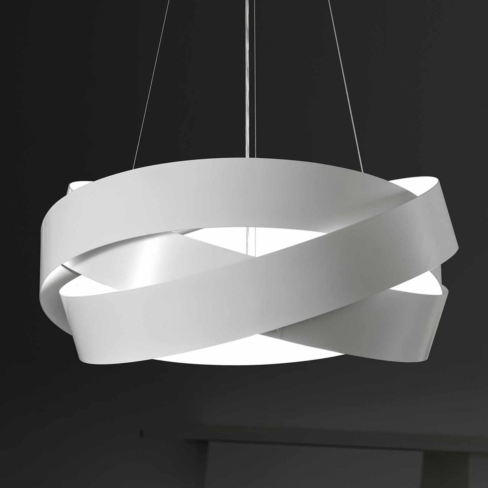 Lampa wisząca Pura w kolorze białym, oprawa E27