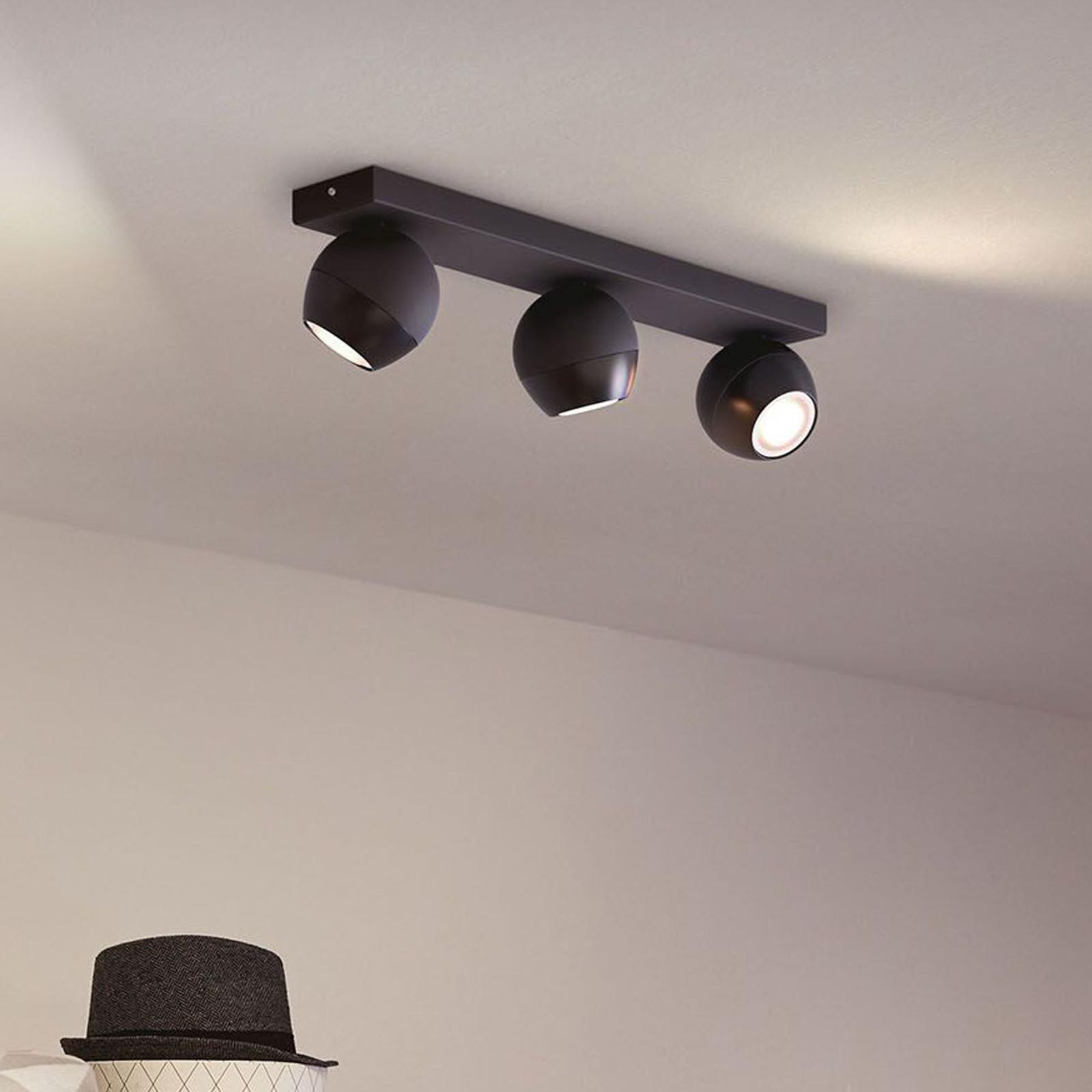 Philips Hue Buckram 3 lyskilder dimmebryter svart