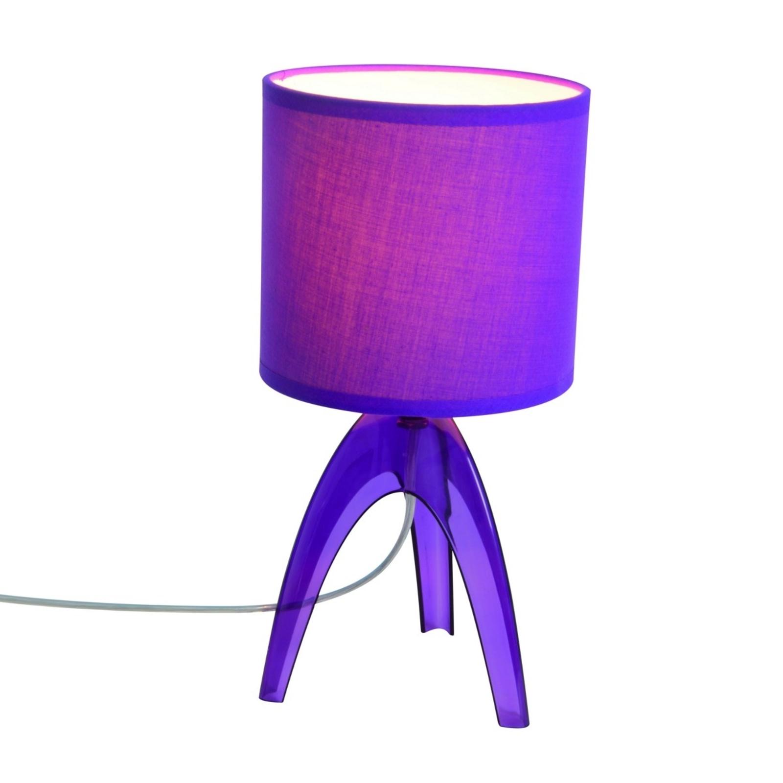 Trendige Tischleuchte Ufolino, violett