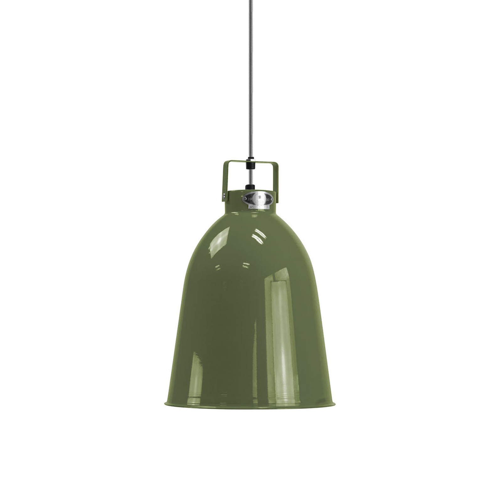 Jieldé Clément C240 lampa wisząca oliwkowa Ø24cm