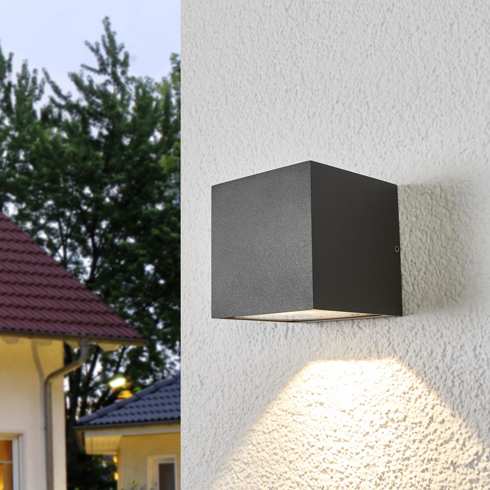 Applique d'extérieur LED Merjem éclairage bas